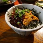 地魚料理 まるさん屋 - ミニいくら・ウニ丼1500円