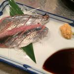 居酒屋ニュー大文字 - 秋刀魚の造り 480yen