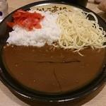カレーは高橋 - 高橋カレー並盛り(ダブル盛り・白米+パスタ)(700円)