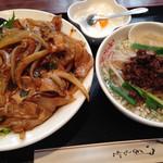阿里城 - 中華風豚焼き肉丼+ミニ坦子麺