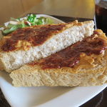 ピュア カフェ - 本日のディップ&トーストのセット:ピーナツ・バター&アイス・コーヒー2