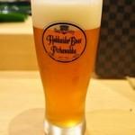 金太郎寿し - 千歳の地ビール「ピリカワッカ」の生ビールが呑める