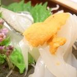 魚庵すし若 - 烏賊・雲丹・サヨリ☆♪