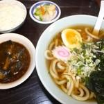 ラーメン・中華料理・讃岐うどん カーブ - 料理写真:四国さぬき うどん定食500円