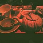 China Pa - 料理写真:ブランデーと烏龍茶のカクテル