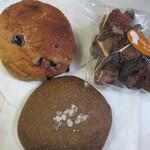 あらぱん - この日は3種類のパンを購入してみました。