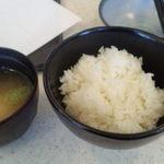 天ぷら倶楽部 - ごはん、みそ汁