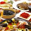 スペイン料理 トレス - 料理写真:パエリアと料理
