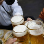 盛升 - ビールで乾杯