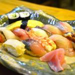 鮨 はなぜん - 寿司(松)  1,500円