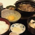 浜市 - 牛すき焼き定食(ご飯大盛り)