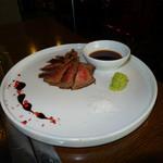 ビストロ ポチ - A5和牛イチボのステーキ(絶品:岩塩で頂きましたが、お肉の味最高!!)