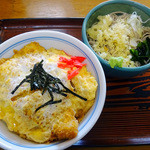 江戸家 - 半カツ丼+半そばセット