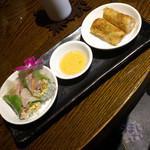 gd - 「Eランチ 回鍋肉」 1,230円 生春巻きと、網目揚げ春巻き