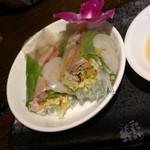 gd - 「Eランチ 回鍋肉」 1,230円 生春巻き