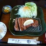かつ喜 - 黒豚ロースカツ定食(小) 1330円(期間限定)