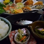 新鮮処 魚里 - カキフライ定食(1,080円)