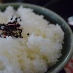 新鮮処 魚里 - ご飯(カキフライ定食)