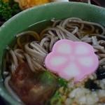 新鮮処 魚里 - そば(ピリ辛えんがわユッケ丼膳)