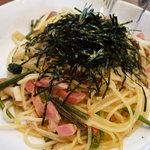 ベビーフェイスプラネッツ - ☆和風山菜きのこベーコンのパスタ(*^。^*)☆