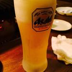 博多中洲ぢどり屋 - キンキンに冷えたグラスにビール☆ 最高♪( ´▽`)