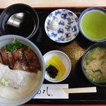 oshokujidokoroyamayoshi - 但馬牛 牛とろろ丼(みそ汁付き)