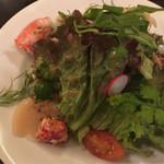 ユリイカ - 3周年記念ディナーのホタテとオマールのサラダ