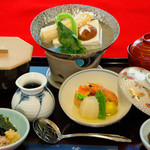 和食処 梵 - 湯豆富定食(1,400円)