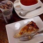 三月の豆cafe - りんごのタルト