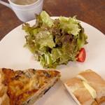 三月の豆cafe - キッシュプレートランチ