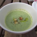 ビストロアンドカフェ タイム - 濃厚な「葉野菜のポタージュ」です。