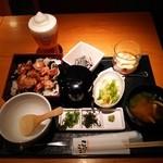 こけこっこ - 『キリン一番搾り フローズンビール』(609円)と        『ひつまぶし風 鶏炭火焼き重ランチ』(1620円)~♪(^o^)丿