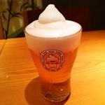 こけこっこ - 『キリン一番搾り フローズンビール』(609円)!泡が、シャリシャリっとして、かき氷のようになっている冷たい一番搾り~!!\(◎o◎)/!!