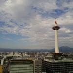こけこっこ - 窓から見える景色!!京都タワーと市街が一望できる~♪(^o^)丿