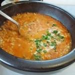 アクアフィオーレ - 辛口トマトととろ~りチーズの石焼リゾット