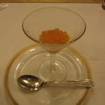 ヴァンセーヌ - 5800円コースのグラニテ。オレンジシャーベット。