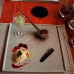 ビストロ オランジュ - ランチのデザート4種盛り