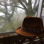 せきれい茶屋 - 霧に咽ぶ山頂。