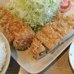 くり家 - 特ロース定食(1600円)