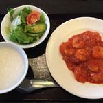 桃杏樓 - ランチ(エビチリ定食)