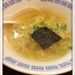 居酒屋 おんざびーと - ハーフラーメン 2014.10