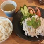 海南チキンライスの店 アゴハン - 海南チキンライス もも肉¥880