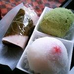 すわや菓舗 - いちご大福、鶯餅、桜餅