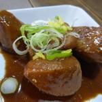 せら庵 - 里イモと鶏モモの柚子風味味噌煮