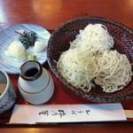 梅乃里 - 三色そば(1200円)_2014-10-24