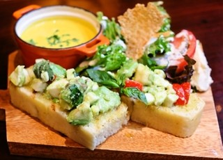 カフェ キャラット - ランチ〜スープ&オープンサンドセット