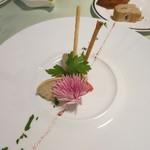 茨城レストラン フェリチタ - 筑波鶏と白レバーのパテ