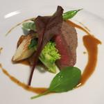 茨城レストラン フェリチタ - 常陸牛ランプのソテー イタリア産ポルチーニ茸のソース
