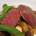 茨城レストラン フェリチタ - 常陸牛ランプのソテー アップ