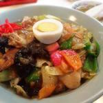 食道楽 - 中華丼(700円・スープ付き)